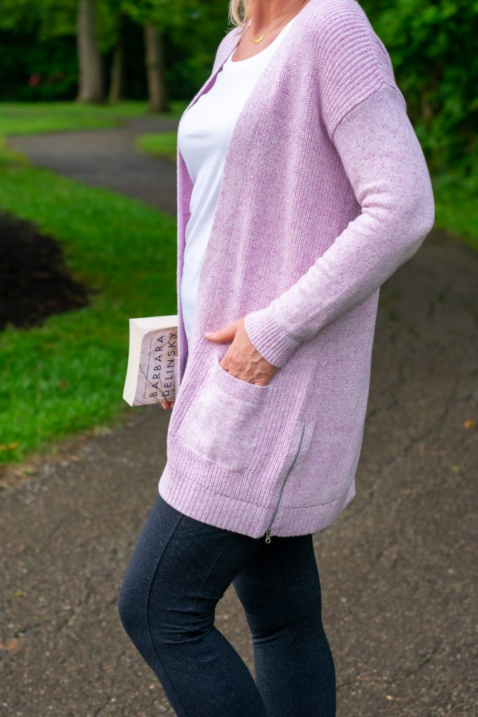 Shaker Stitch Open Cardigan