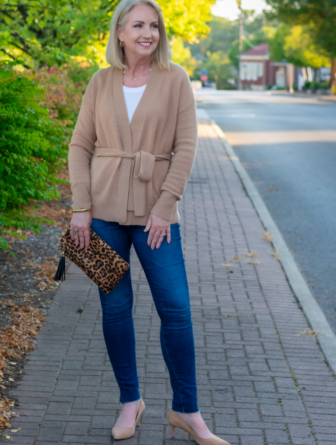 Chic Camel Cashmere Cardigan