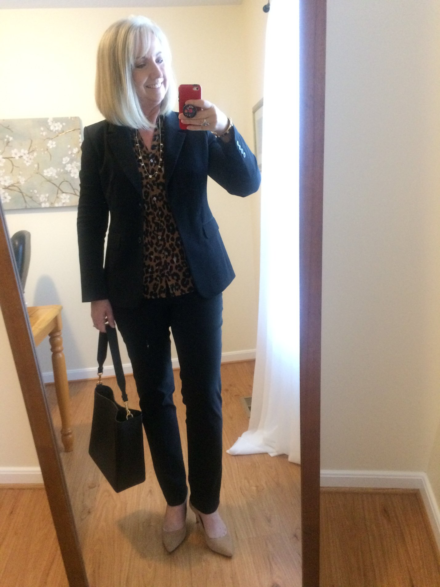 Black Suit with leopard