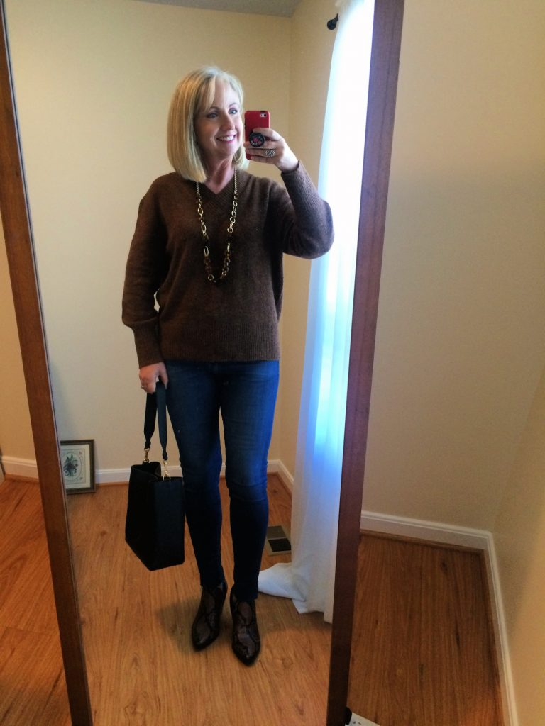 Pullover Sweater and Jeans
