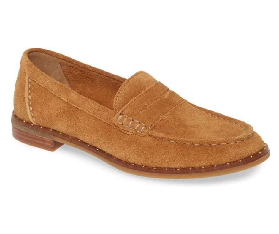 September Favorites Sperry suede loafer