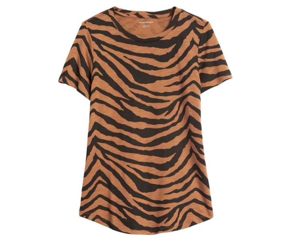 September Favorites animal print tee