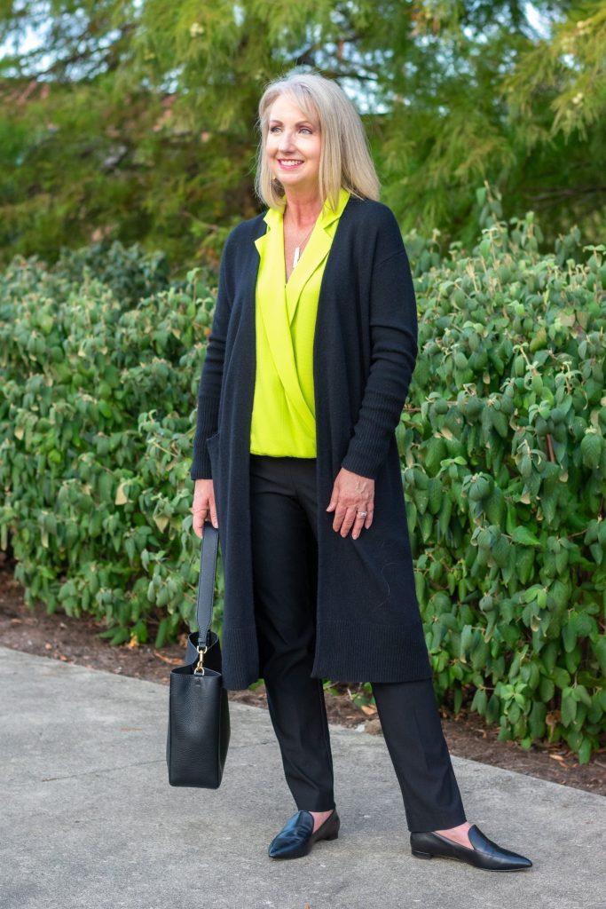 Black Cashmere blend cardigan