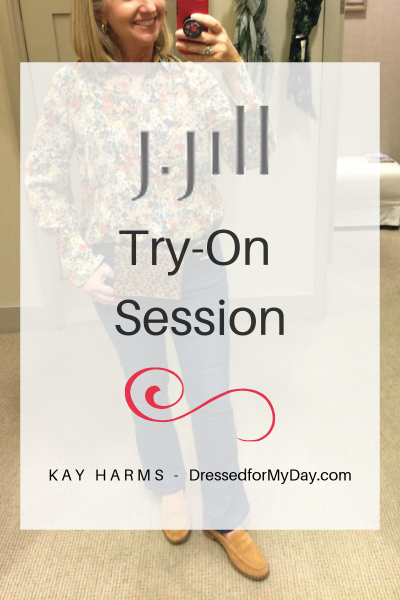 Fall Fashion Try-On session at J.Jill