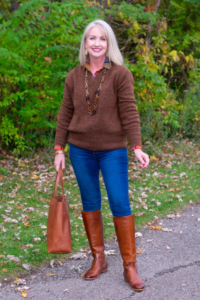 12 Ways to Style a Pullover Sweater instead of just wearing it 06