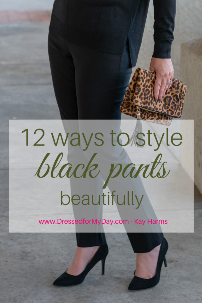 black pants 12 ways