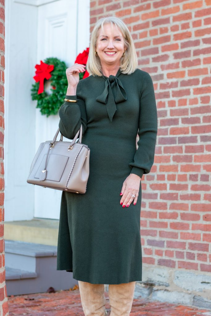 Sweater Dress for Christmas and Beyond