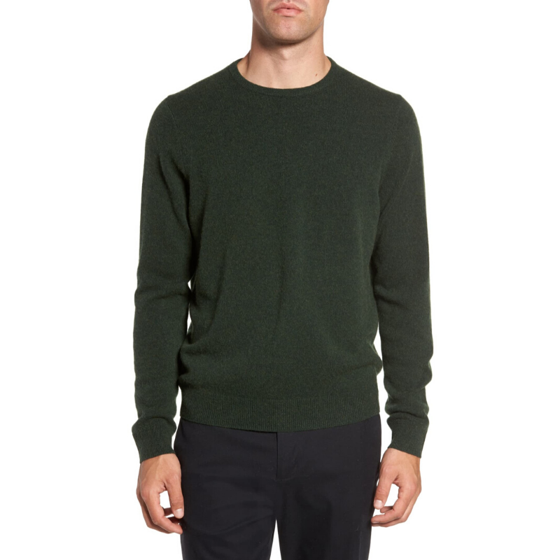 Cashmere Crewneck Sweater for Young Men