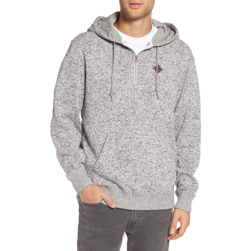 half zip hoodie for young men