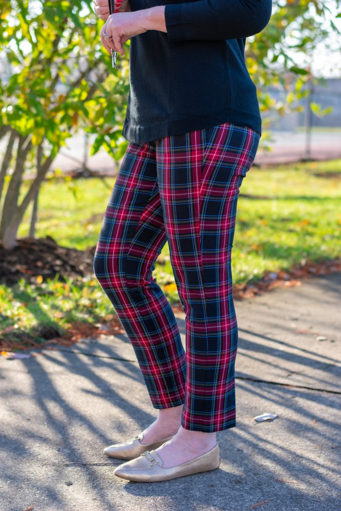 Quinn plaid pants