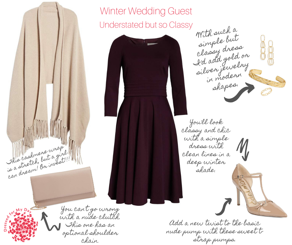 Simple but Classy Winter Wedding Attire