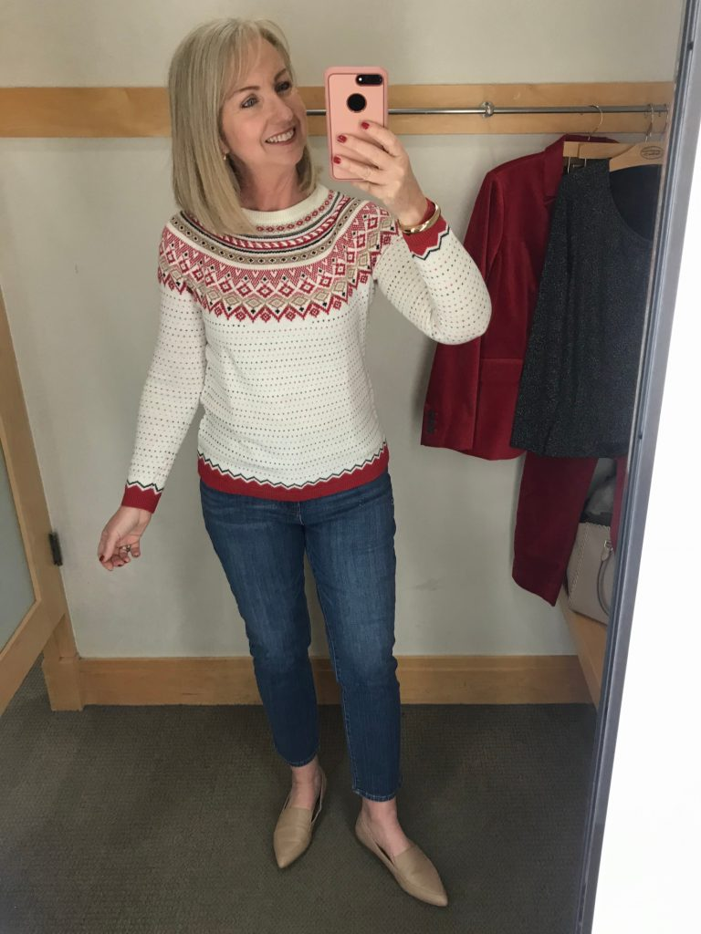 How I Dressed Fair Isle Sweater and Jeans