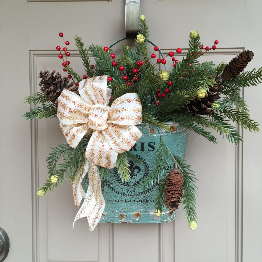 Christmas Decorations on Front Door