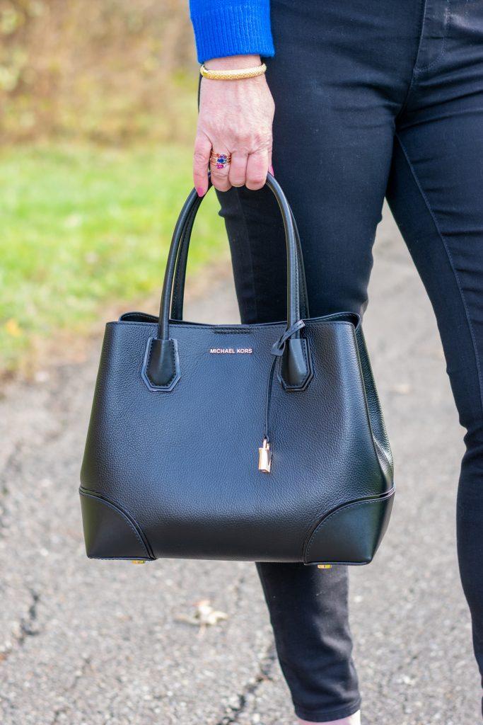 black satchel handbag