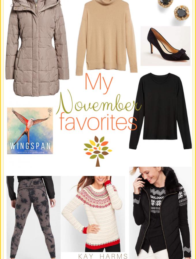 My November Favorites
