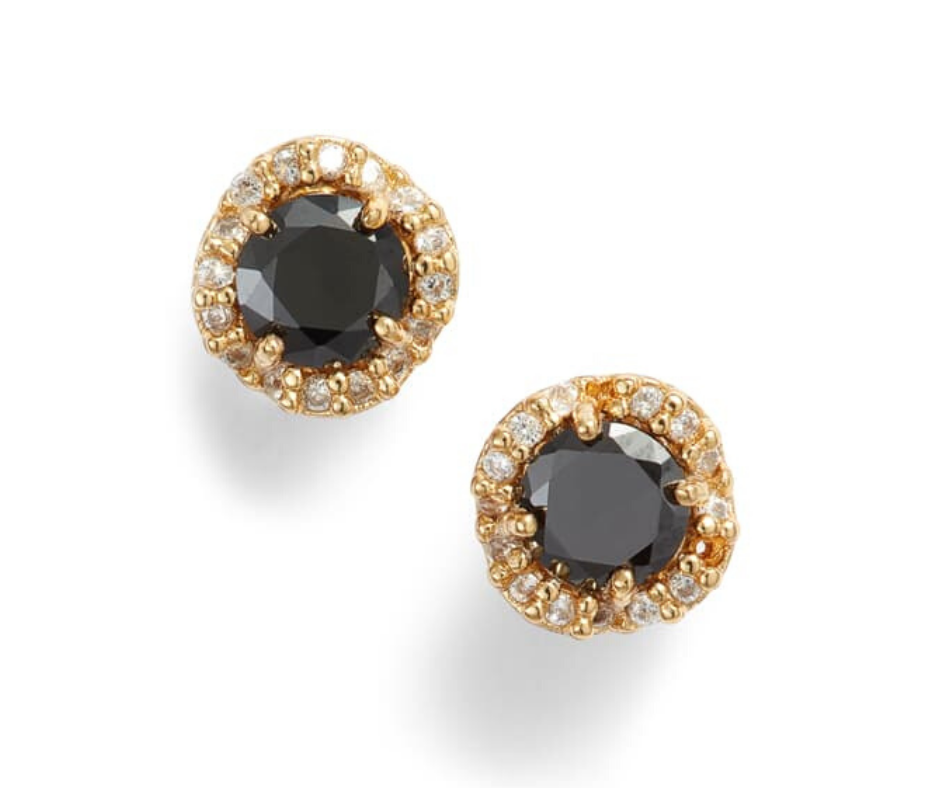 pave black earrings