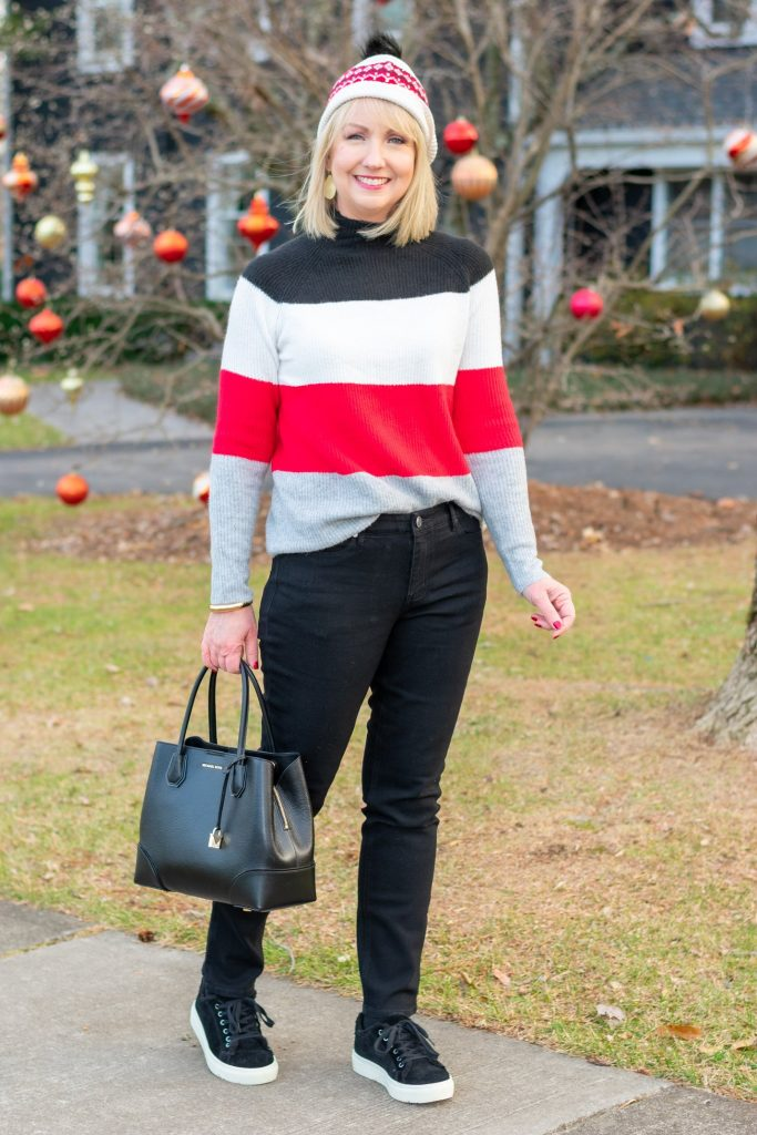 Red and black Striped Sweater 2