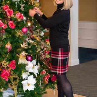 Wool Blend Skirt + Turtleneck for Church