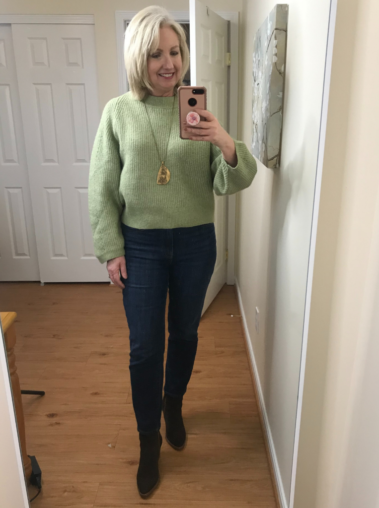 Ankle Jeans No Tuck Ankle Boots Blousy Sweater