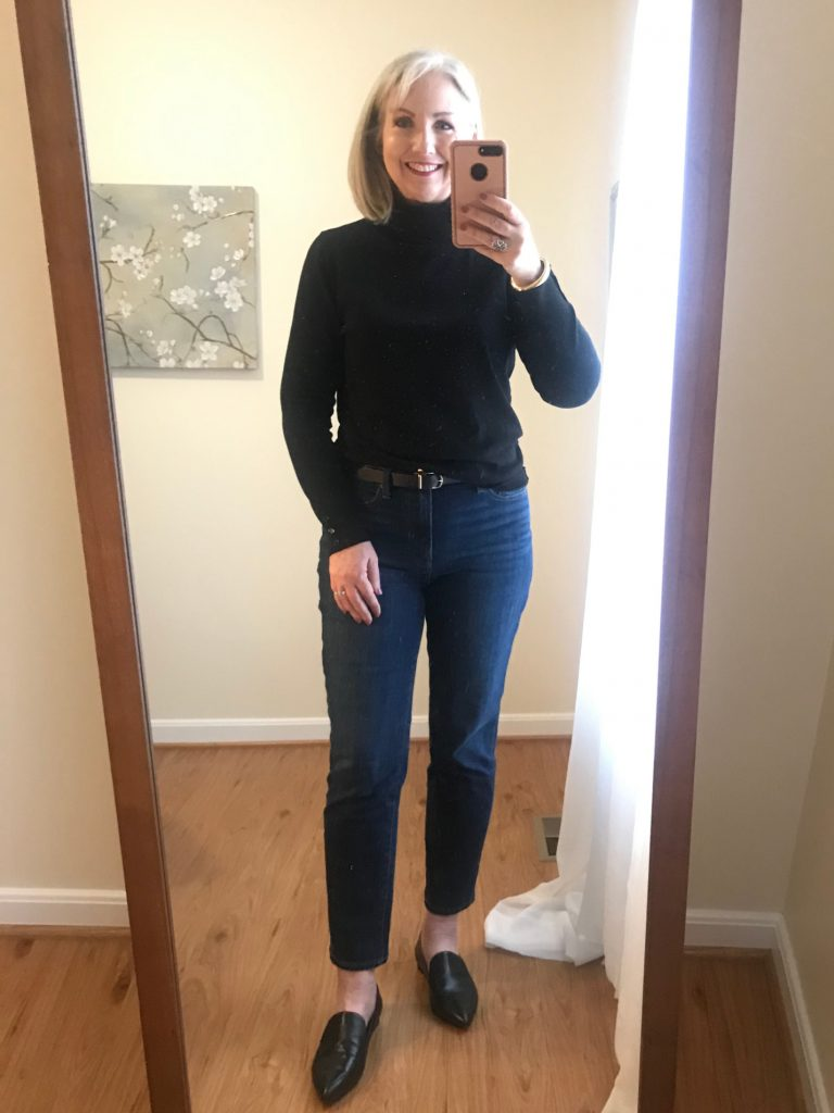 How to Wear Straight Leg Ankle Jeans in Winter