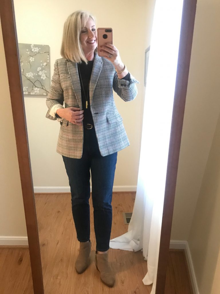 With a Blazer and Booties