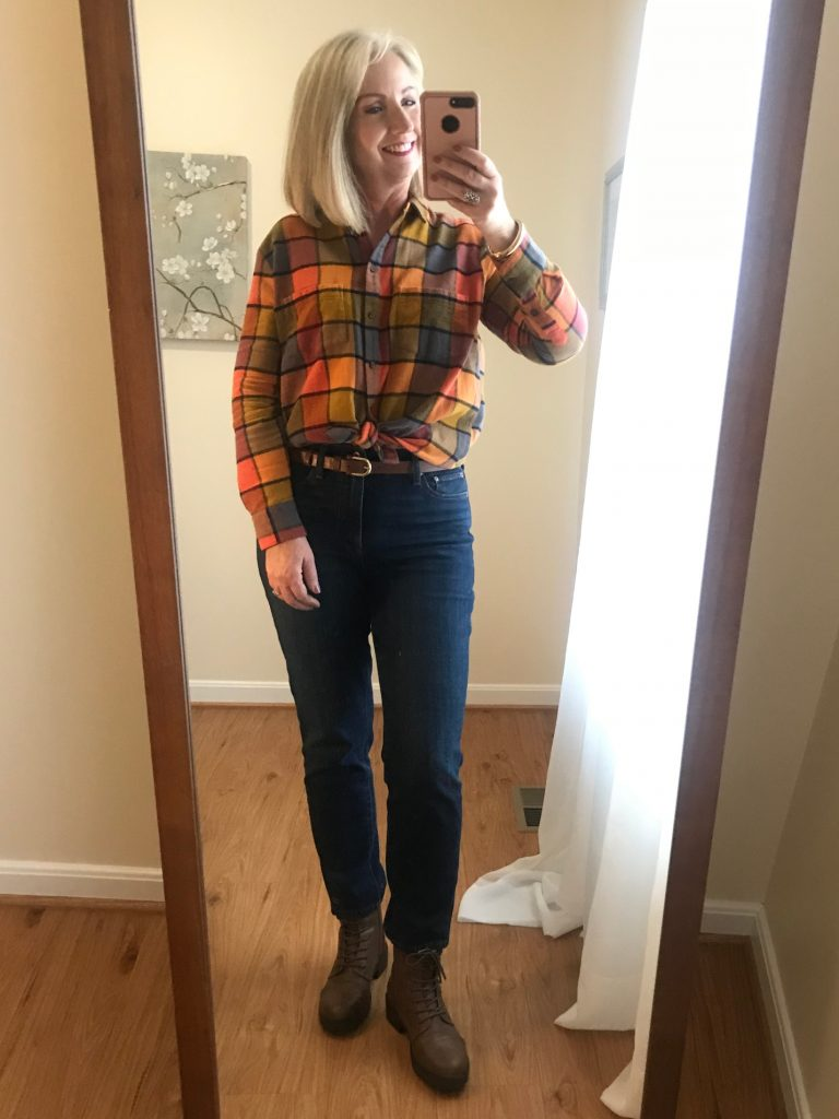 With a Flannel Shirt
