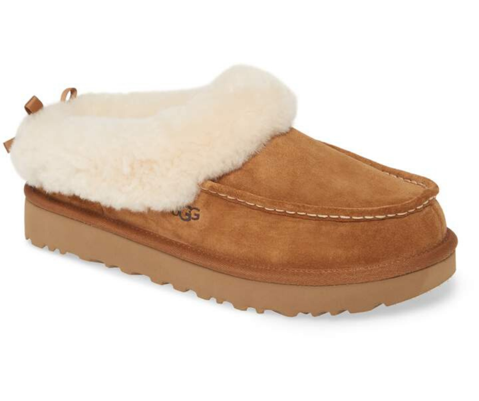 UGG® Grove Genuine Shearling Trim Slipper