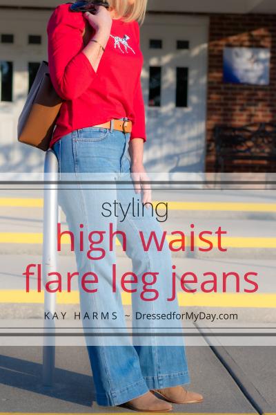 Styling-High-Waist-Flare-Leg-Jeans