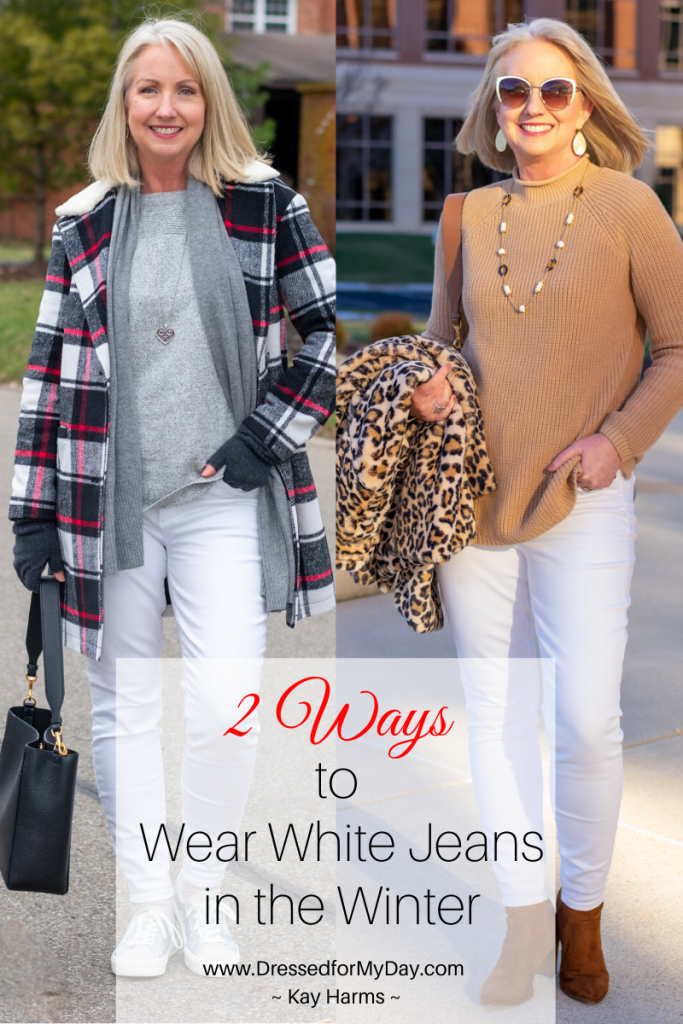 2 Ways to Wear White Jeans in the Winter