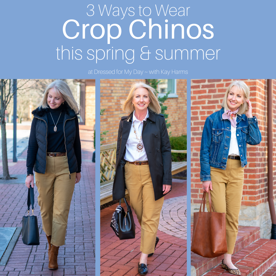 3 Ways to Wear Crop Chinos this Spring and Summer - Featuring crop chinos from Talbots - Styles for women over 50