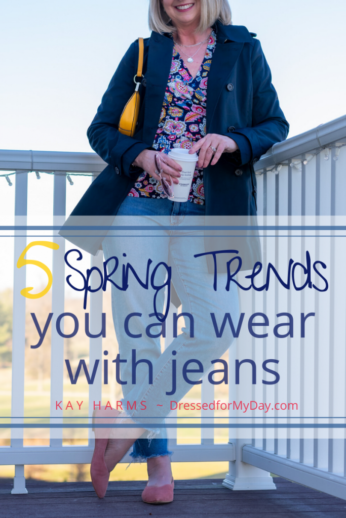 5 Spring Trends You Can Wear with Blue Jeans