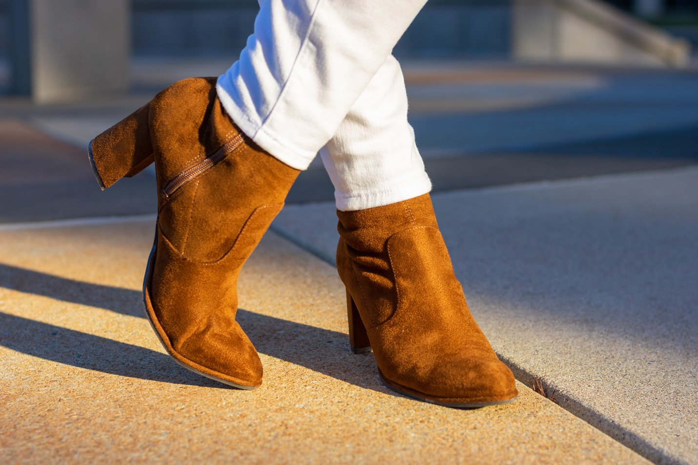 suede sock booties