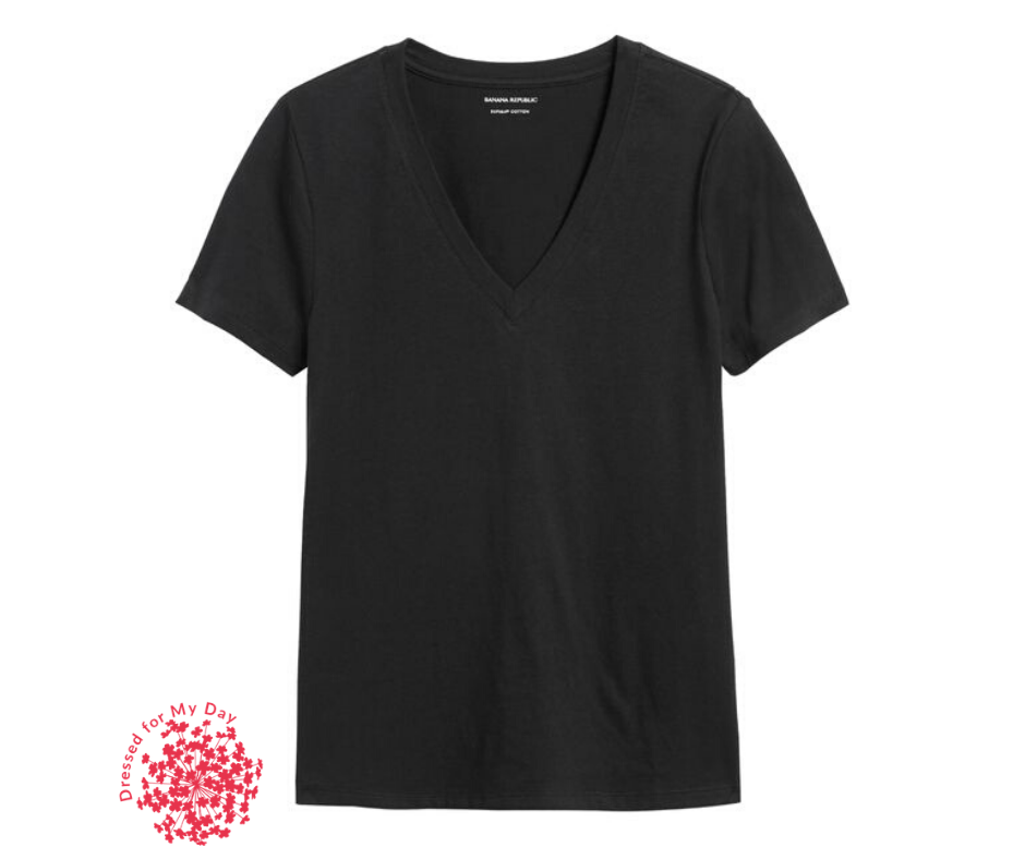 Simple black t-shirt is essential