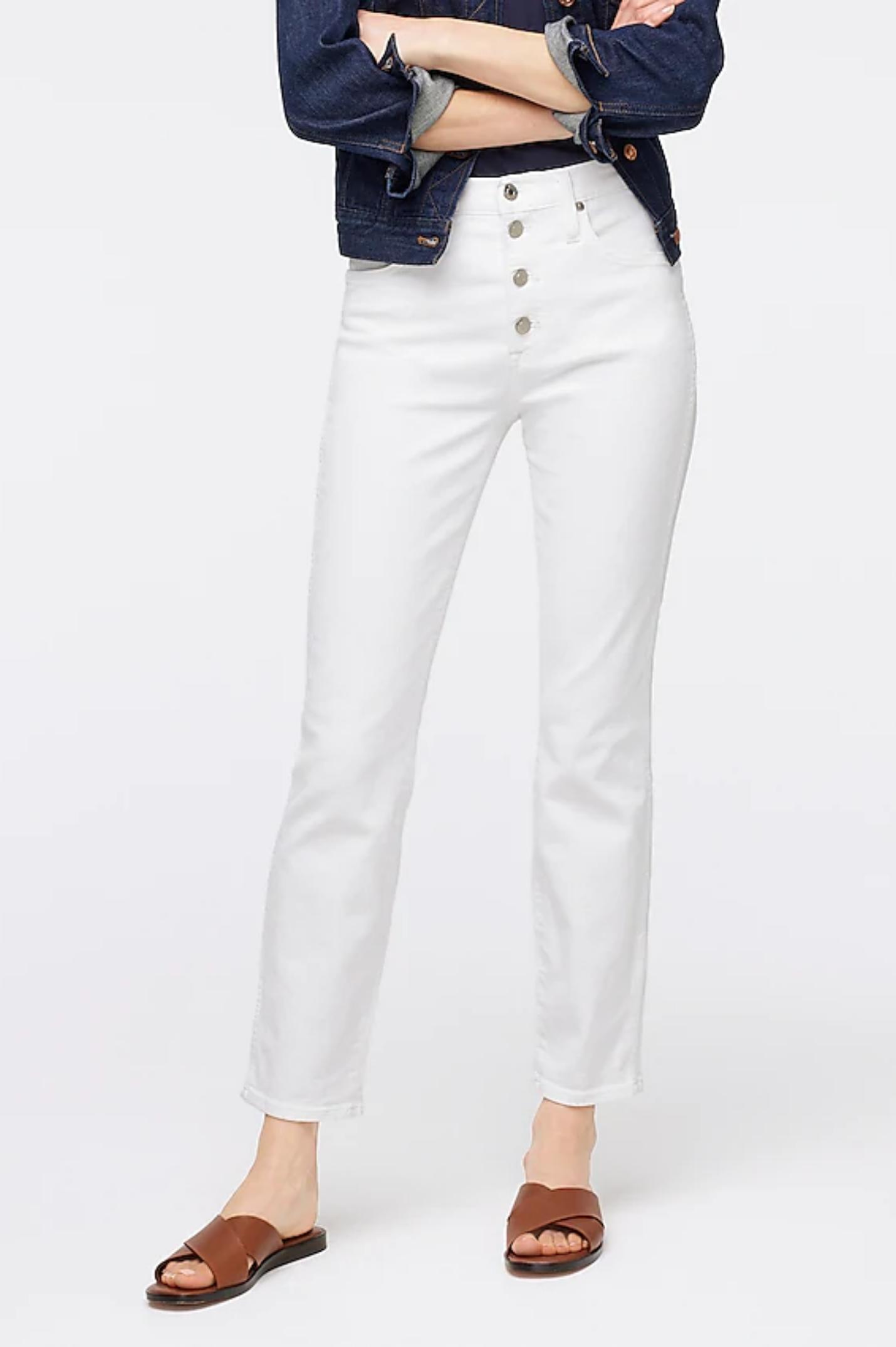 Spring Wardrobe Essentials white jeans