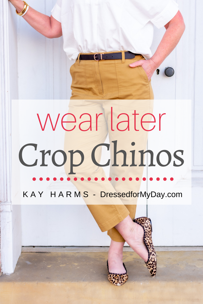 3 Ways to Style Crop Chinos for now, soon and later - how to style crop chinos for spring