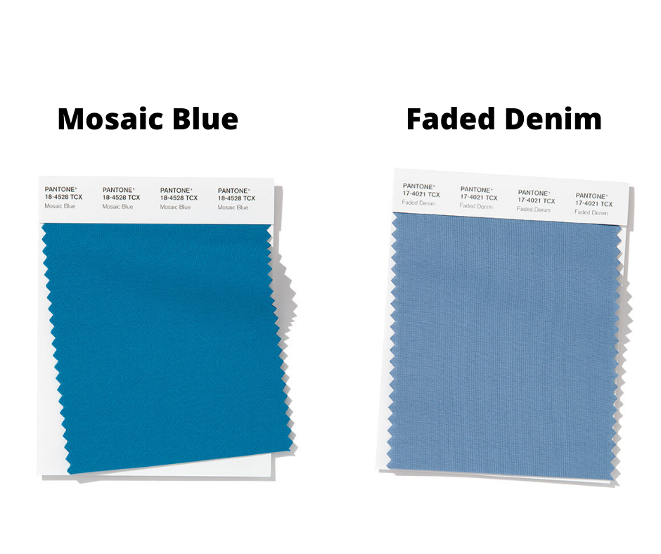 Mosaid Blue and Faded Denim