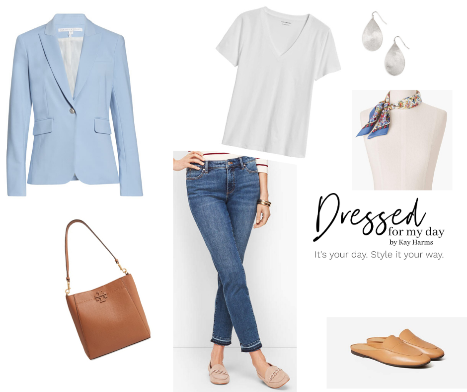 Capsule Wardrobe Blazer and Jeans