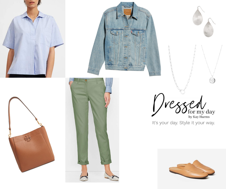 Capsule Wardrobe shirt and chinos