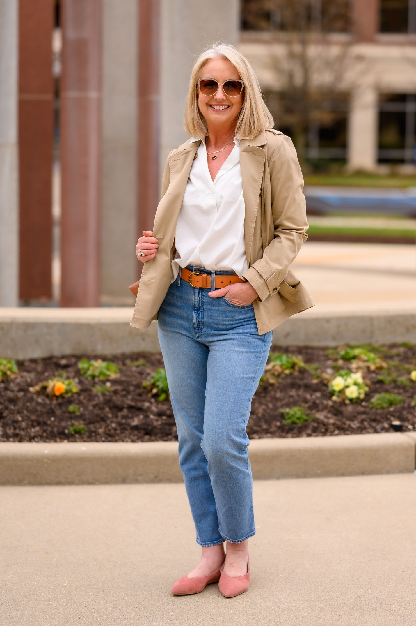 Casual Jeans Outfit Without a Tee