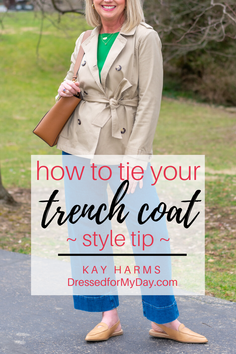 How to Tie Your Trench Coat - a style tip from Dressed for My Day