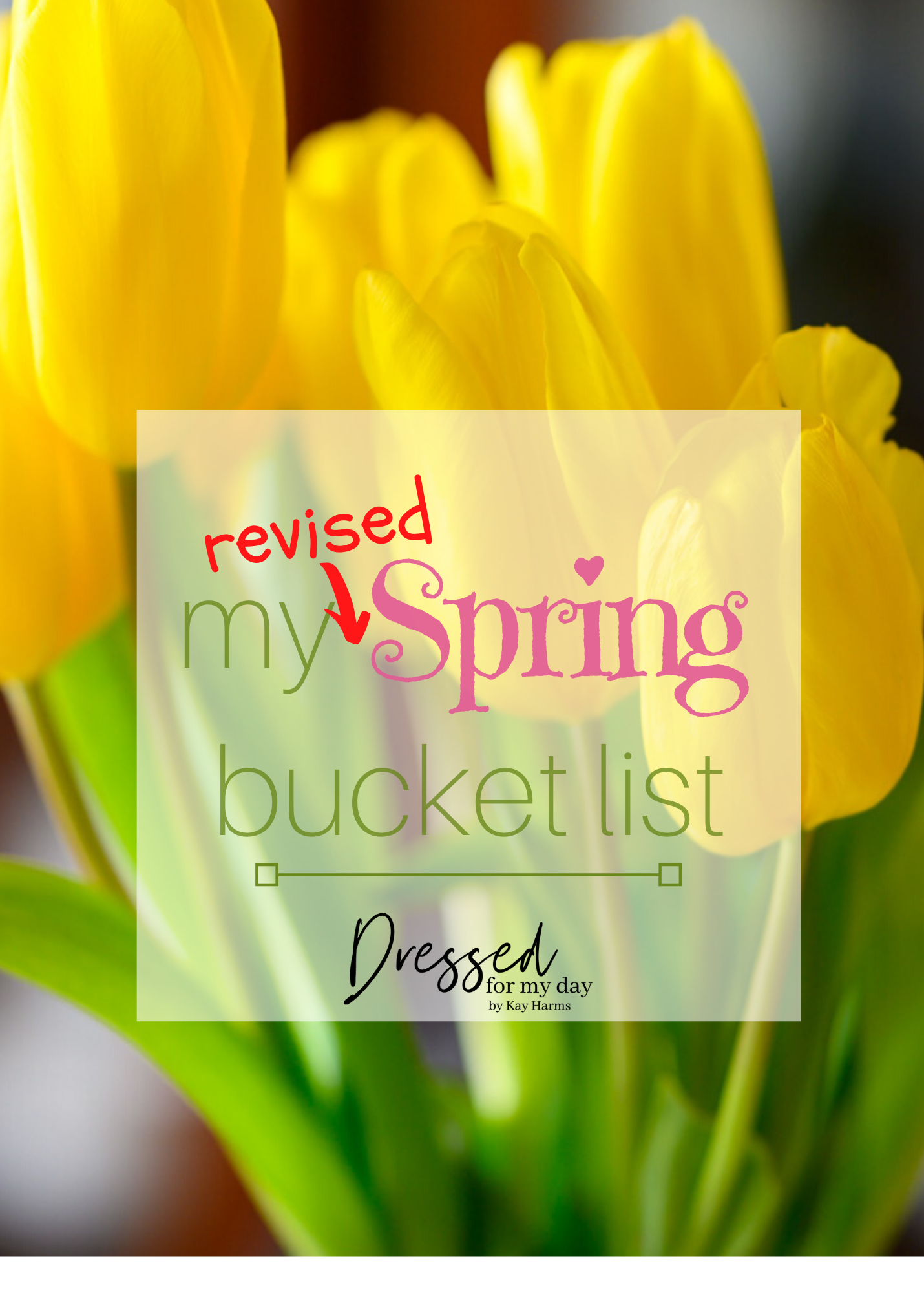 My Revised Spring Bucket List