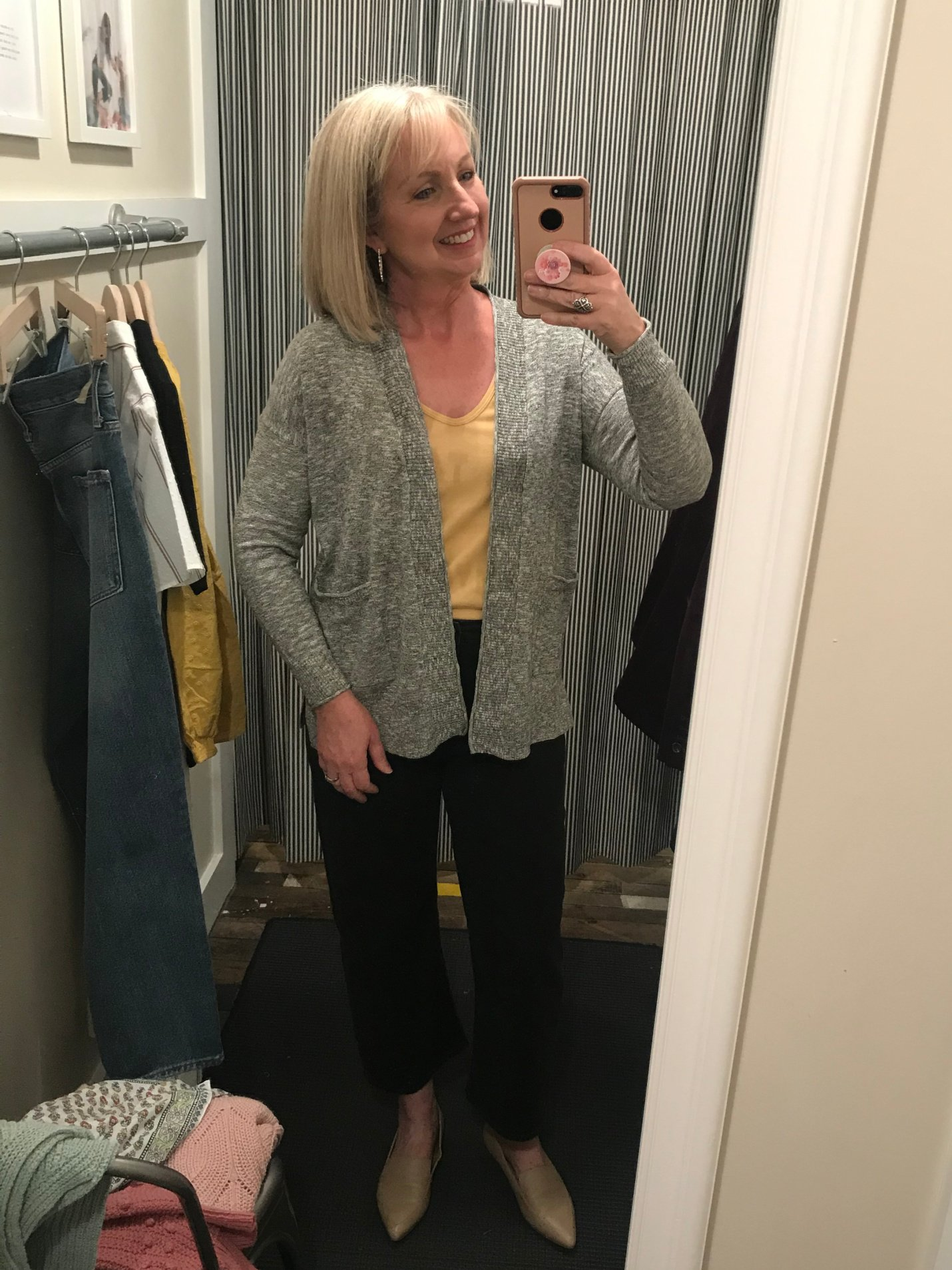 slim wide-leg jeans