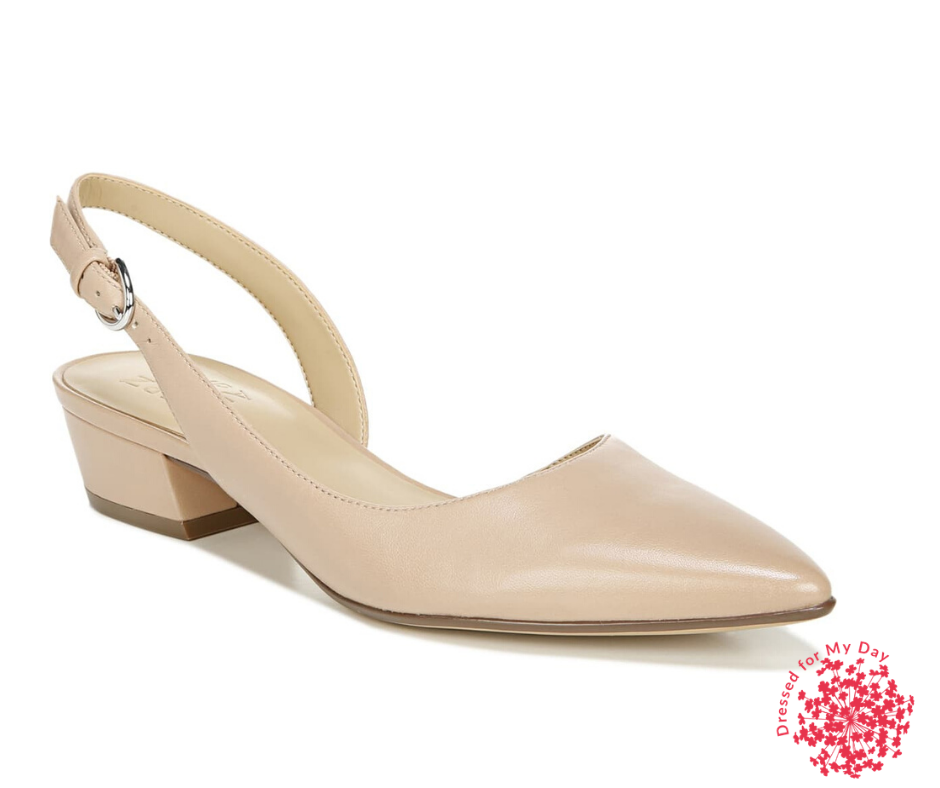 slingback block heel