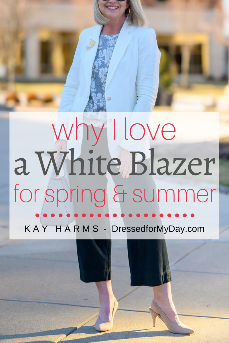 why I love a white blazer for spring and summer