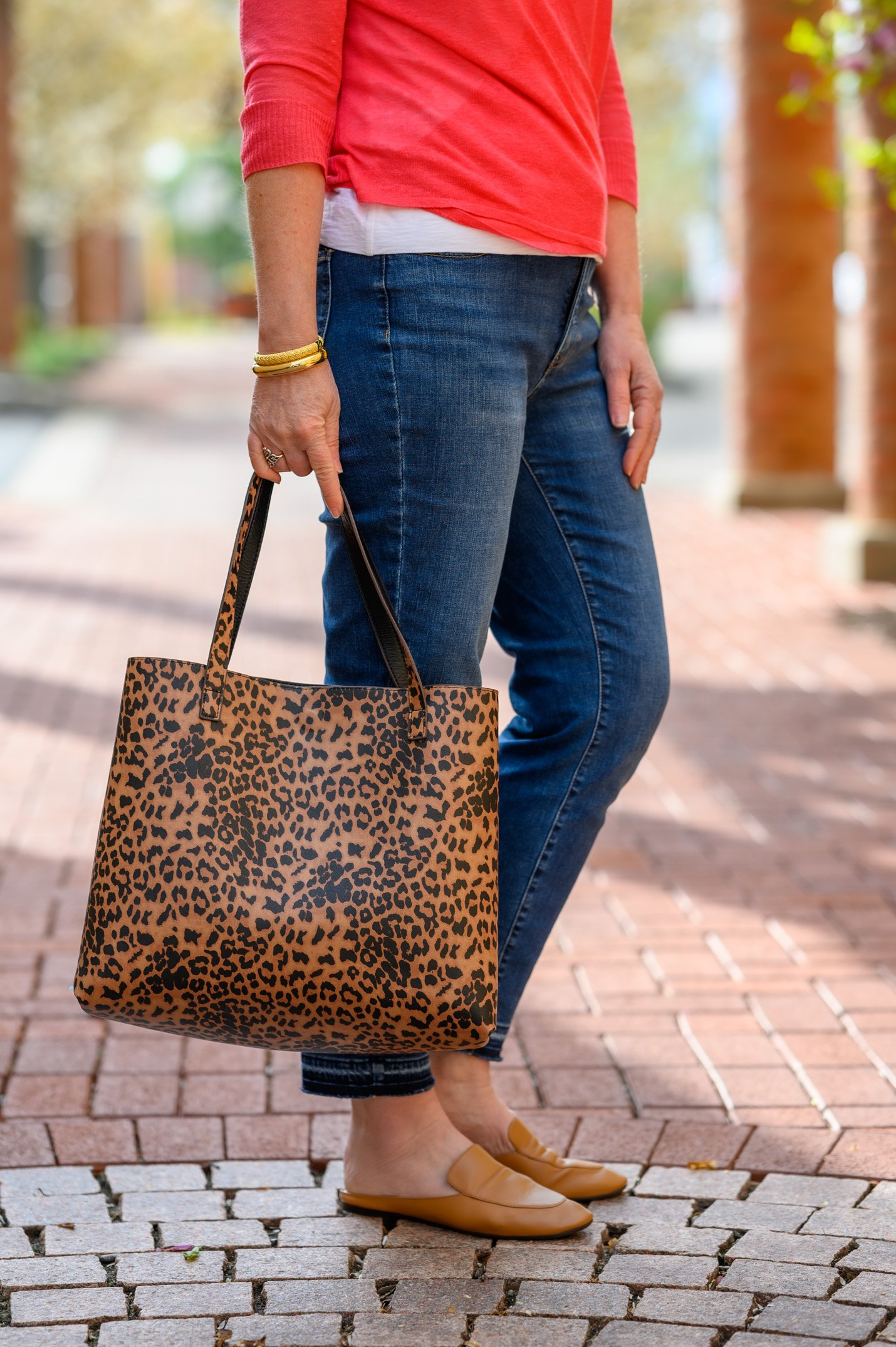 leopard convertible bag