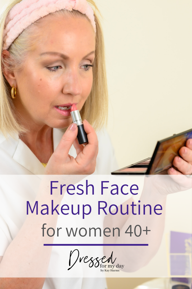 Fresh Face Makeup Routine for women 40+