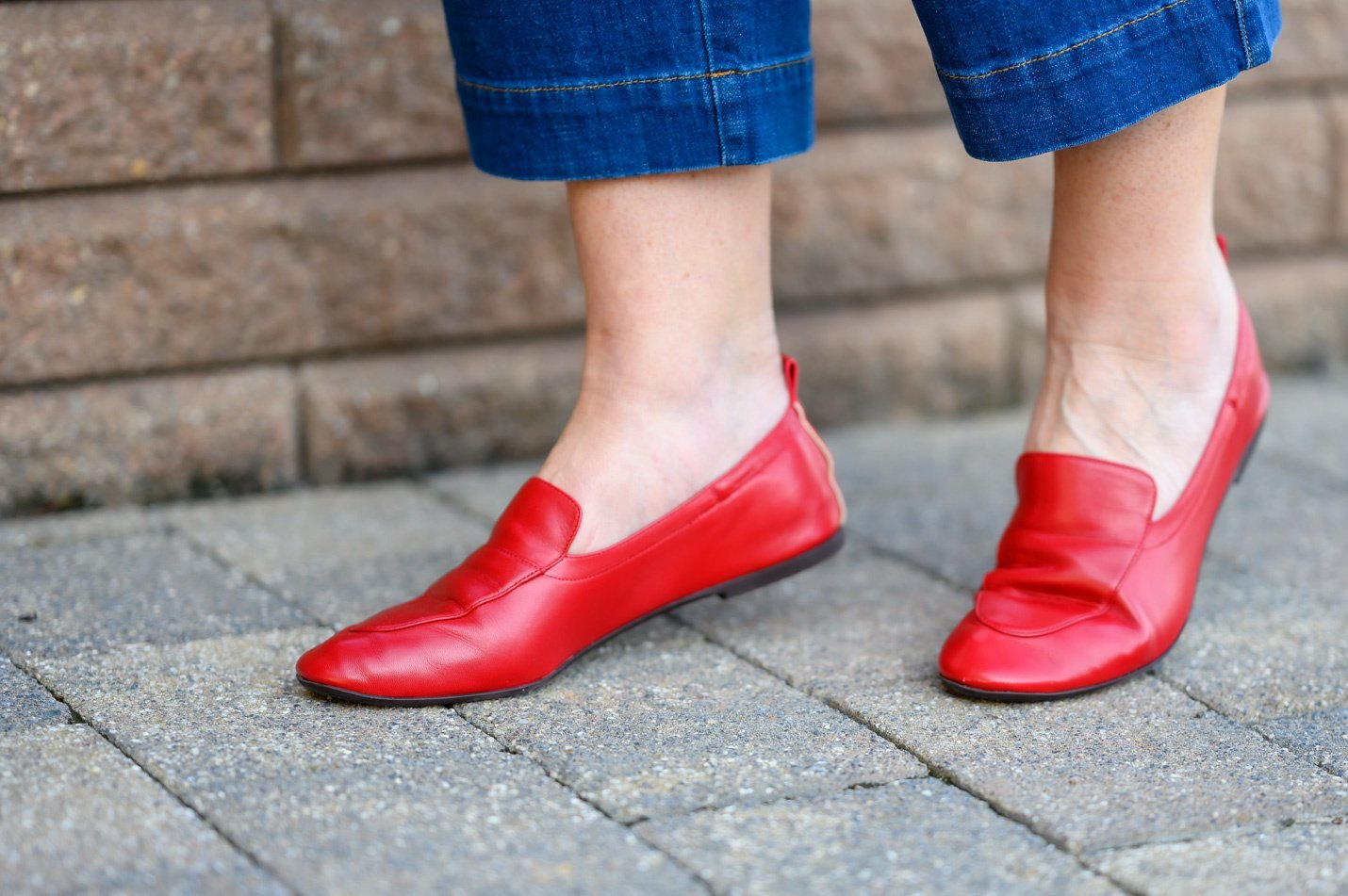 deep red leather day loafers