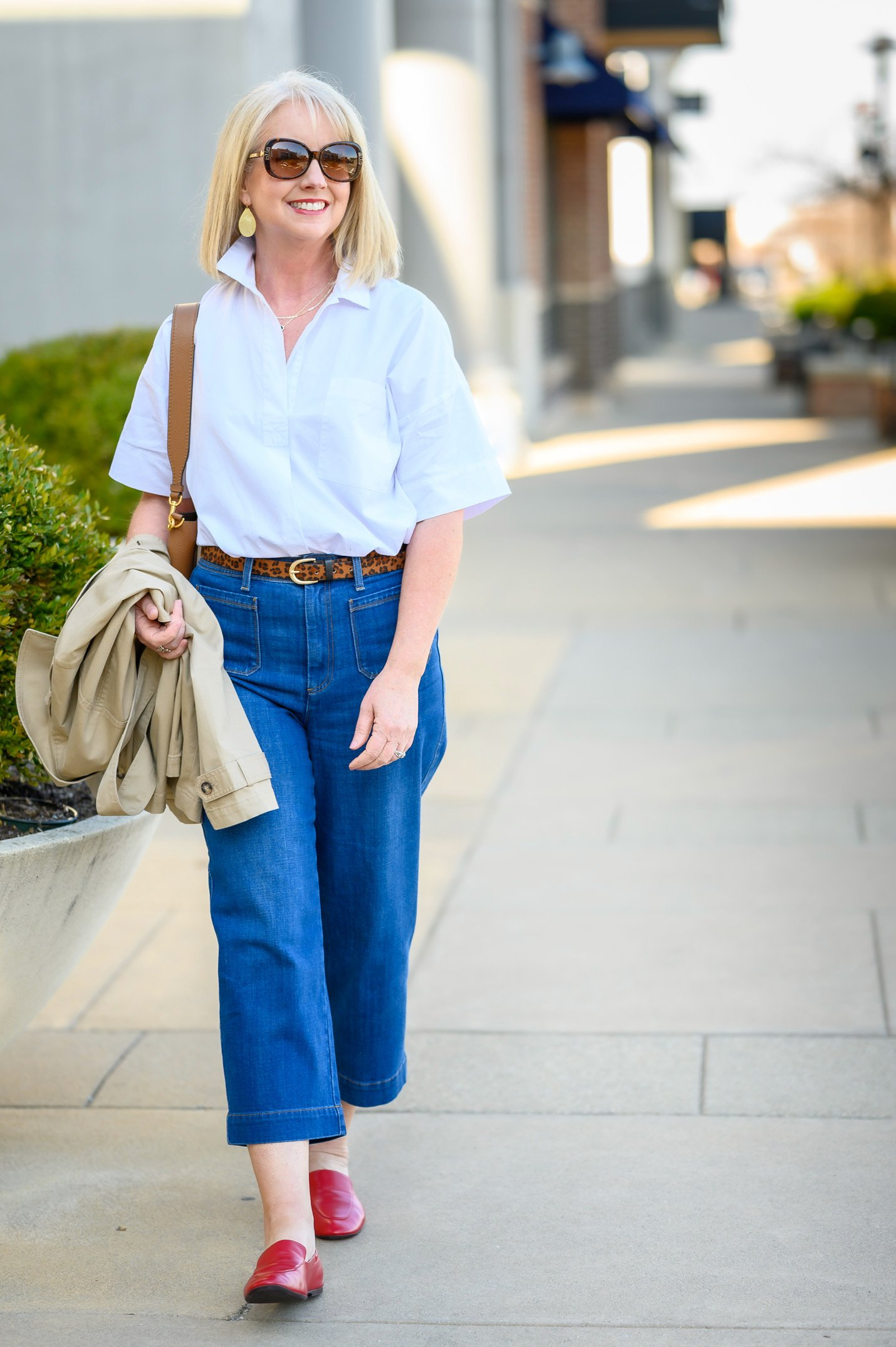 How to Wear Wide Leg Crop Jeans