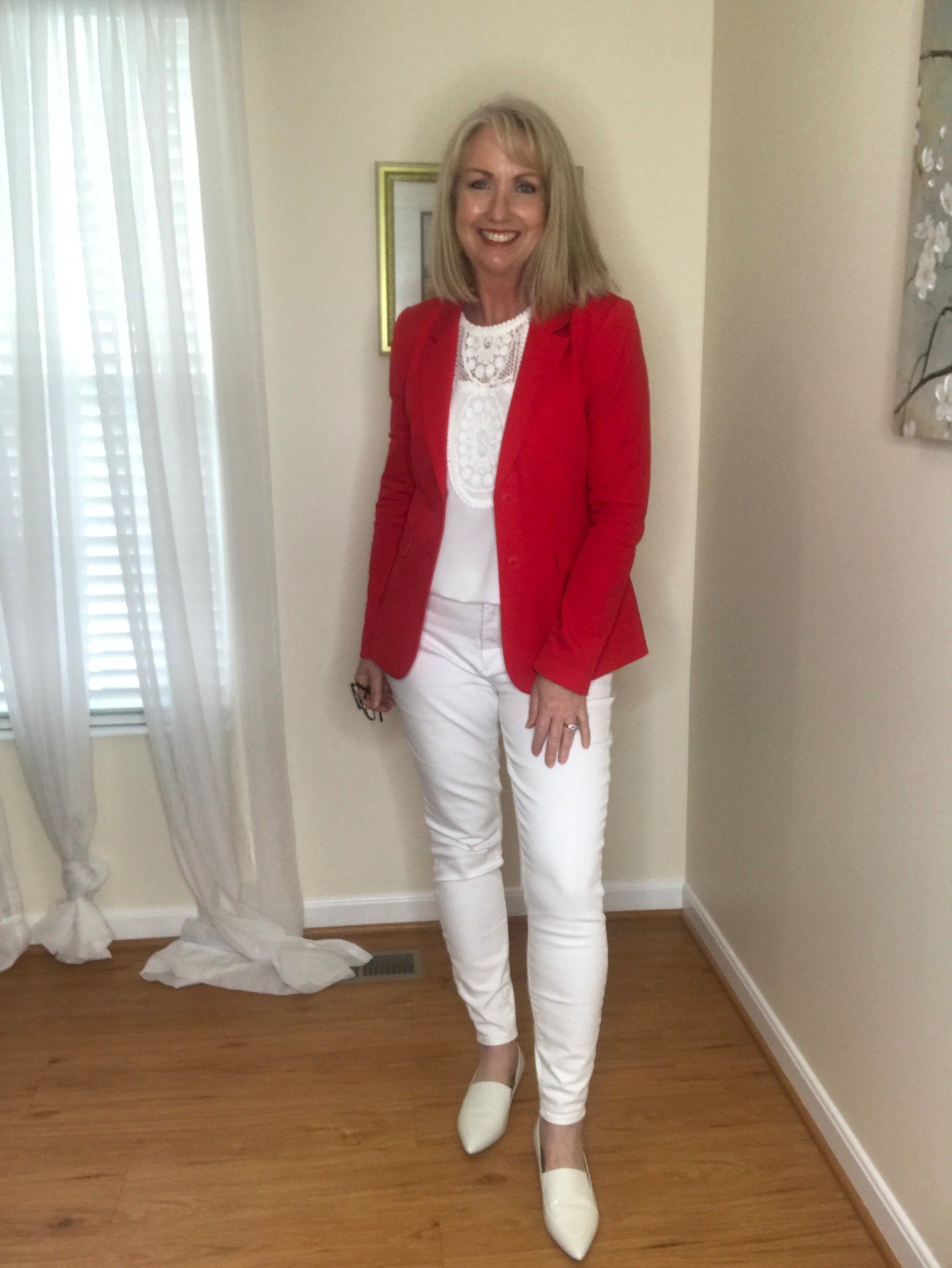All white plus Red Jacket