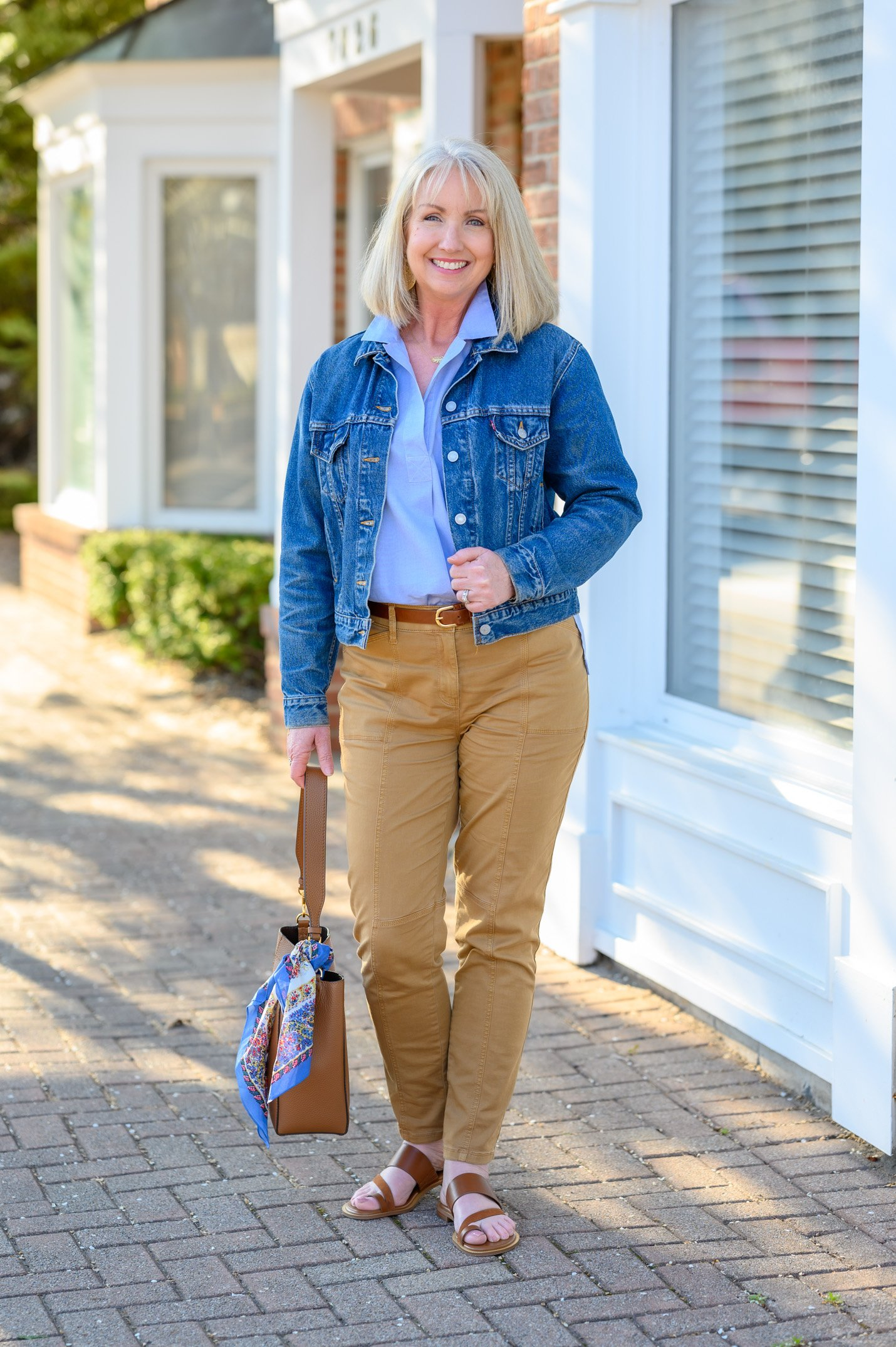 Styling Camel and Blue for Spring